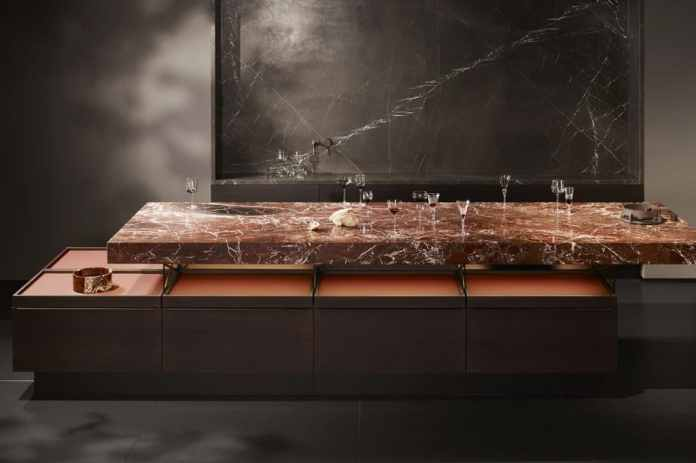 Poggenpohl Collection 2021: Worktop made of Rosso Lepanto by Poggenpohl