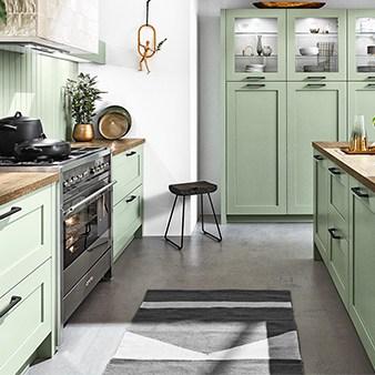 pastellküche häcker im landhaus stil