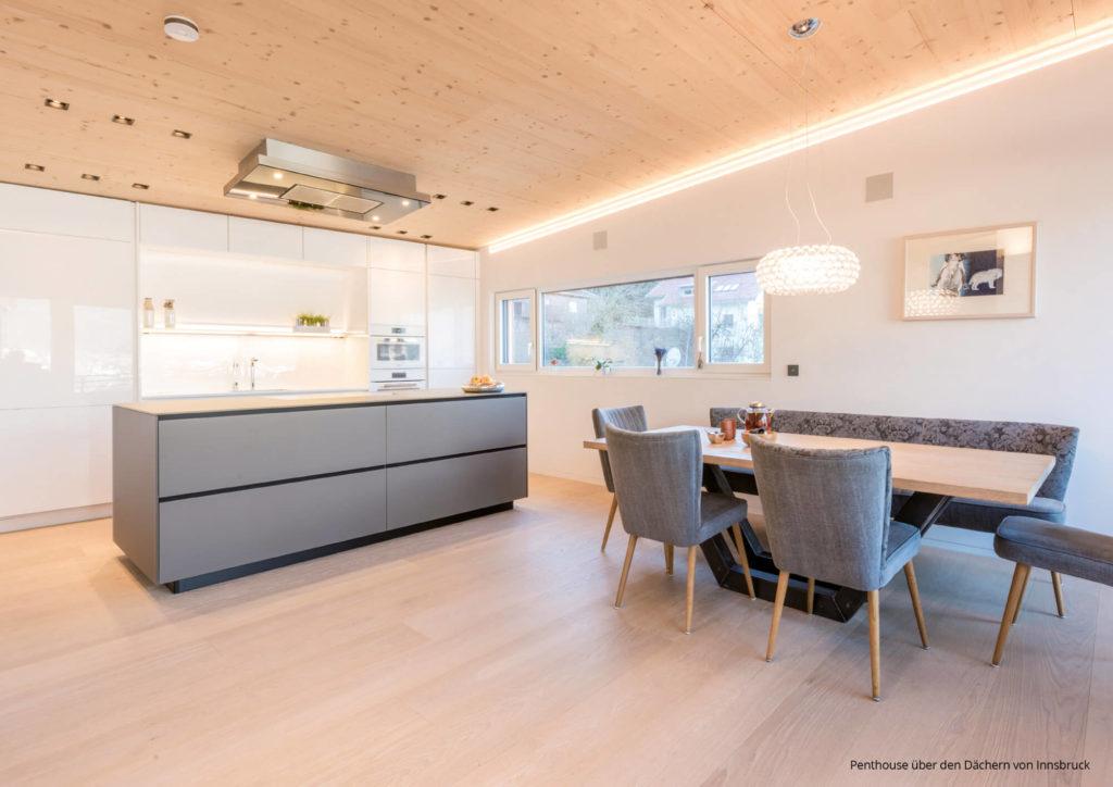 Küchen Farbkonzept #1: Weiß U2013 Grau U2013 Eiche