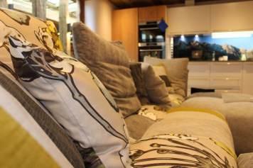 Küche und Sitzbereich