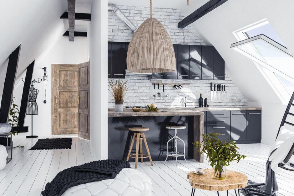 dachgeschoss-küchen