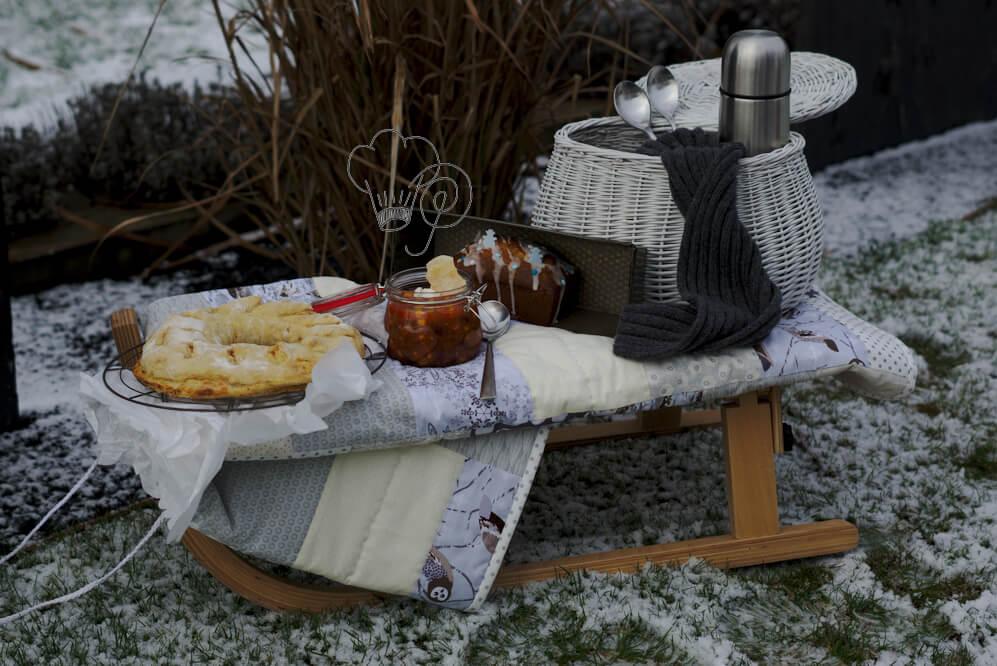 Winterpicknick – Flammkuchenbrot
