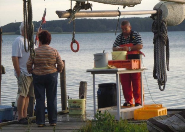 Frischer Fisch direkt vom Fischer