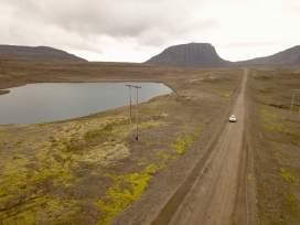 Schotterpiste in den Westfjorden