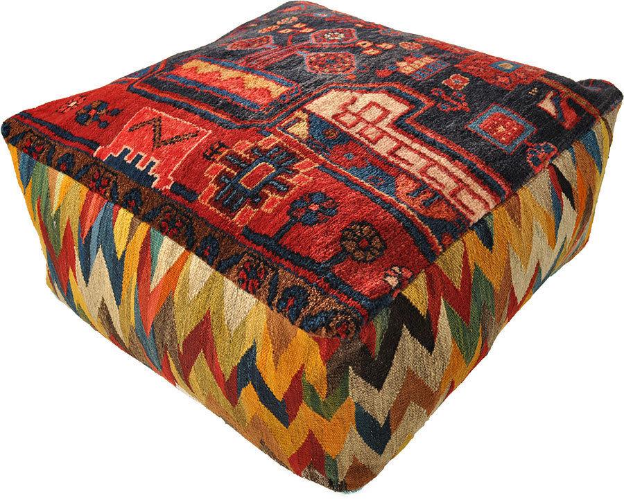 gabbeh pouf floor cushion 70 x 70 x 30 cm