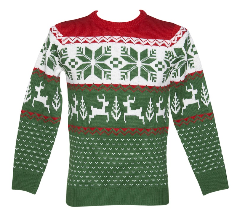 Unisex_Green_and_Red_Wonderland_Knitted_Christmas_Jumper_from_Cheesy_Christmas_Jumpers_hi_res1