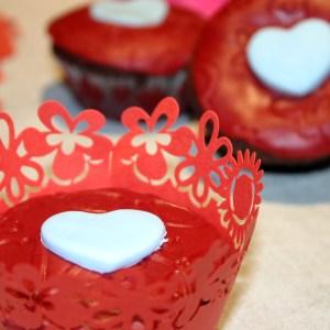 Cupcake de la St Valentin