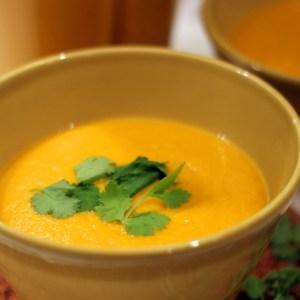 Crème de carotte, coco & coriandre