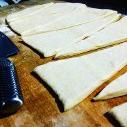 Découpe de la pâte feuilletée