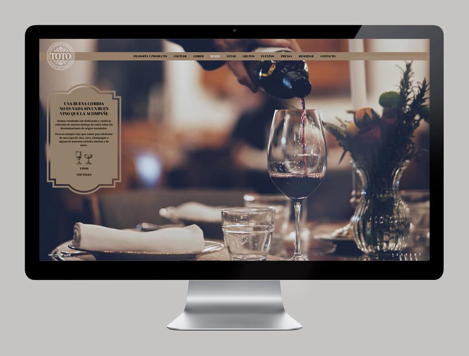 Dirección de arte, fotografía, programación, restaurante I love TOTO, Barcelona