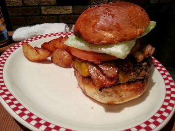 Bacon Cheeseburger, fully assembled