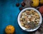 päärynä-pekoni-homejuustopasta