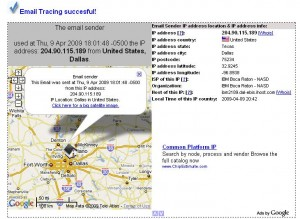 Email Tracing Succesful!