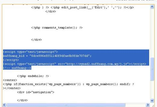 code nuffnang di  main index template