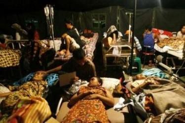gambar gempa bumi di Sumatera 30/09/2009