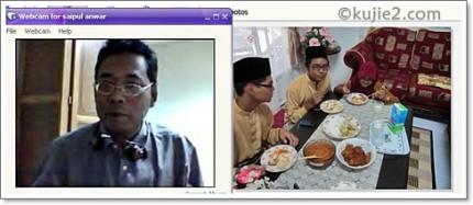 Tahun 2011 - Kami menyambut hari raya melalui video call sahaja.