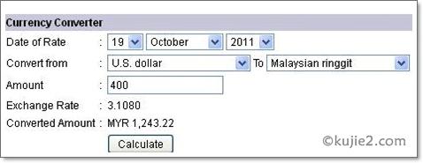 Bank Negara Currency Converter Dan Western Union
