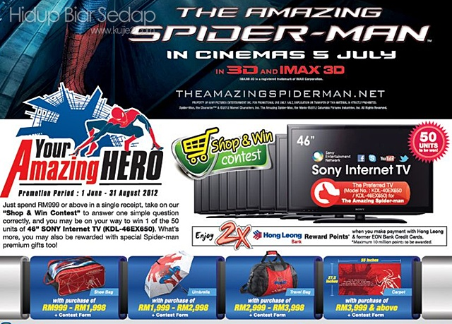 Senheng  Amazing Spiderman Shop and Win Contest'