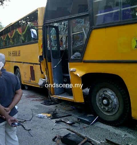 kemalangan bas sekolah au3 keramat