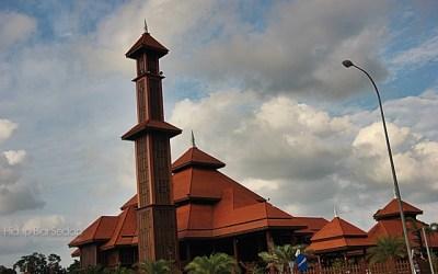 menara masjid kayu seberang jertih