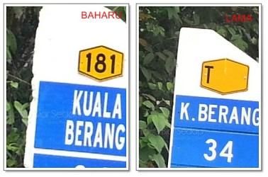 papan tanda jarak lokasi