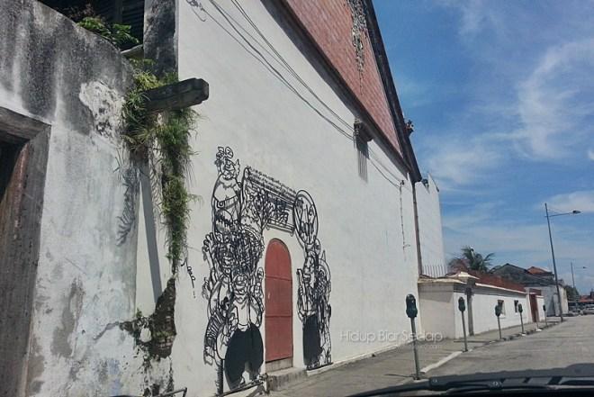 corak lukisan dinding pulau pinang