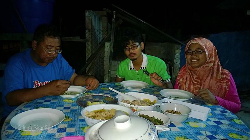makan malan di homestay