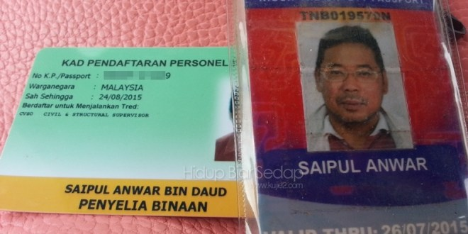 Kad Hijau CIDB dan Pasport Keselamatan NIOSH-TNB