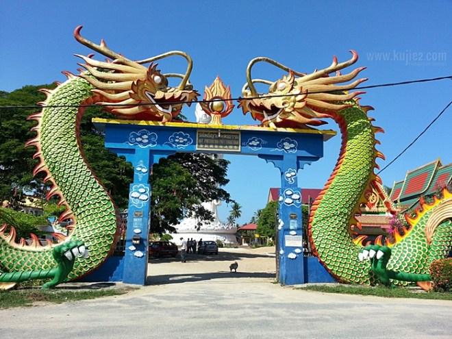 Wat Phothikyan double Dragon Temple Kelantan
