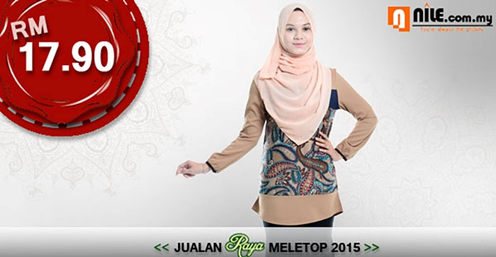 nile haniya printed blouse