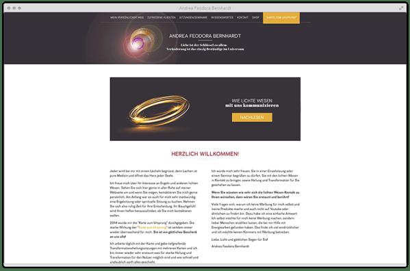 Kuki Design Web Gestaltung Umsetzung Andrea Feodora Bernhardt Responsive WordPress Startseite Desktop Ansicht