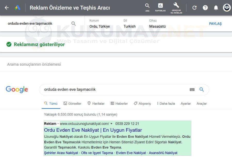 Google önizleme ve tehi aracı