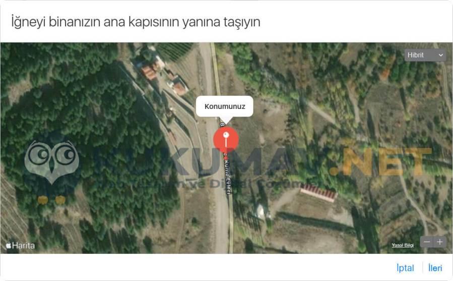 Apple Maps Konum Ekleme