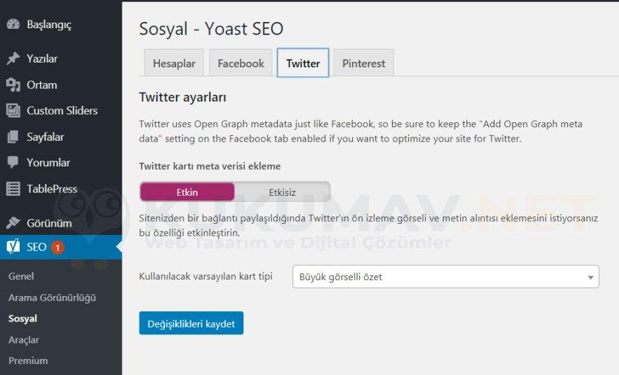 Yoast SEO Sosyal Medya