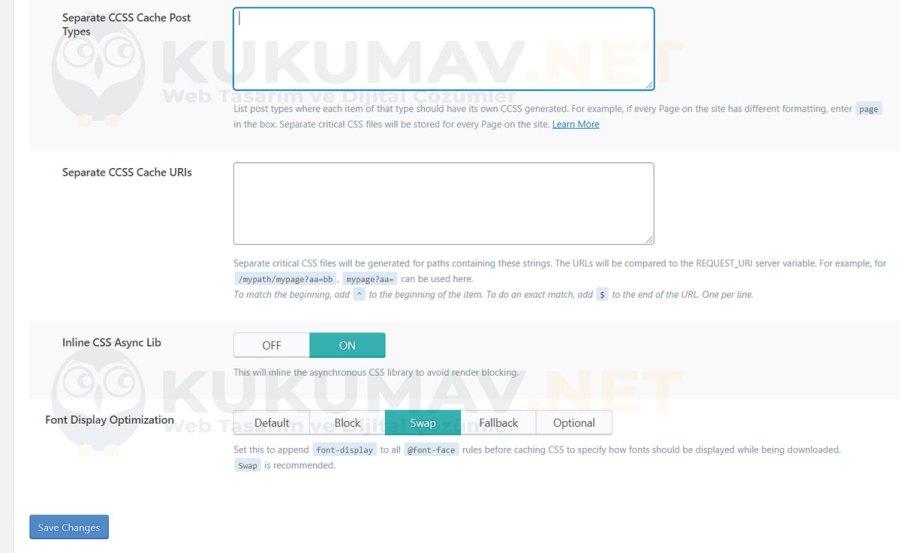 Litespeed Cache Sayfa Optimizasyonu