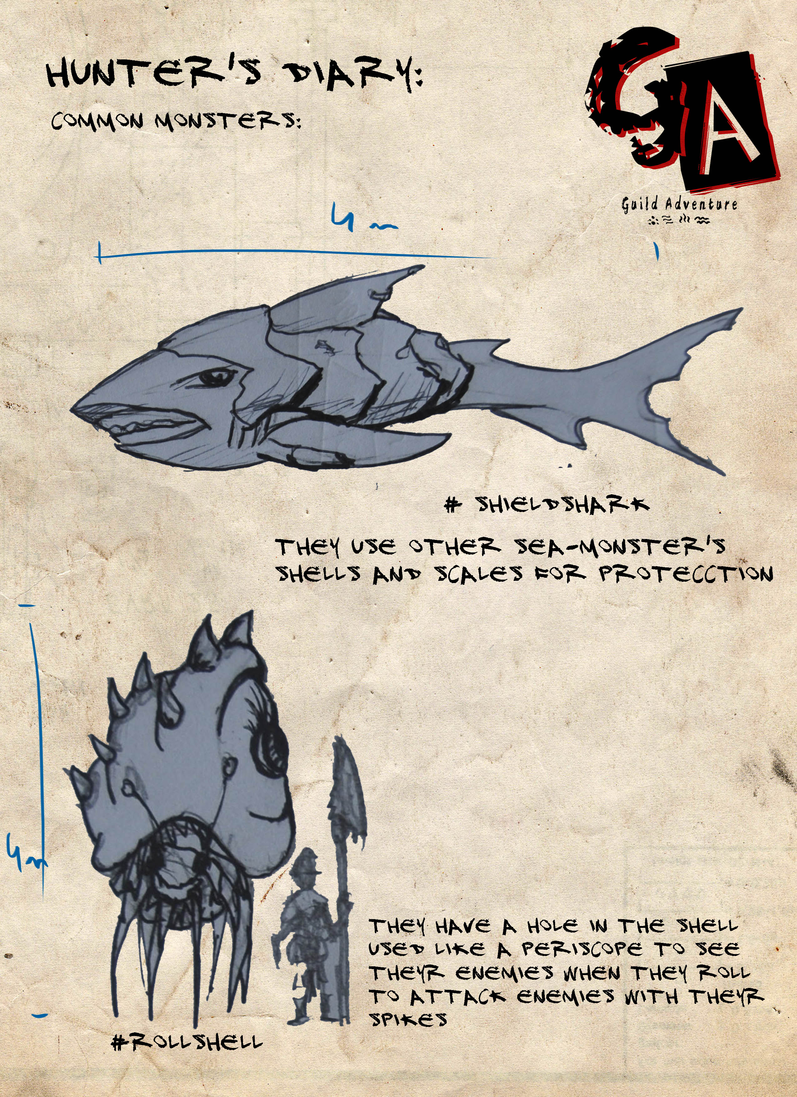 Hunter's diary: common monsters