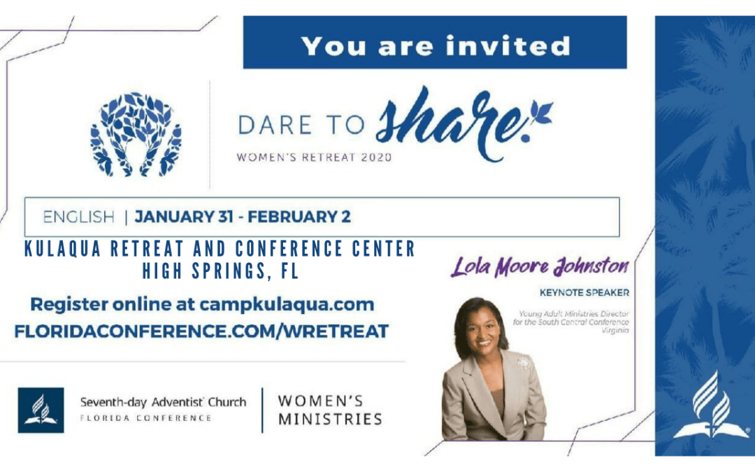 2020 Dare to Share Women's Retreat at Kulaqua Retreat and Conference Center English Session
