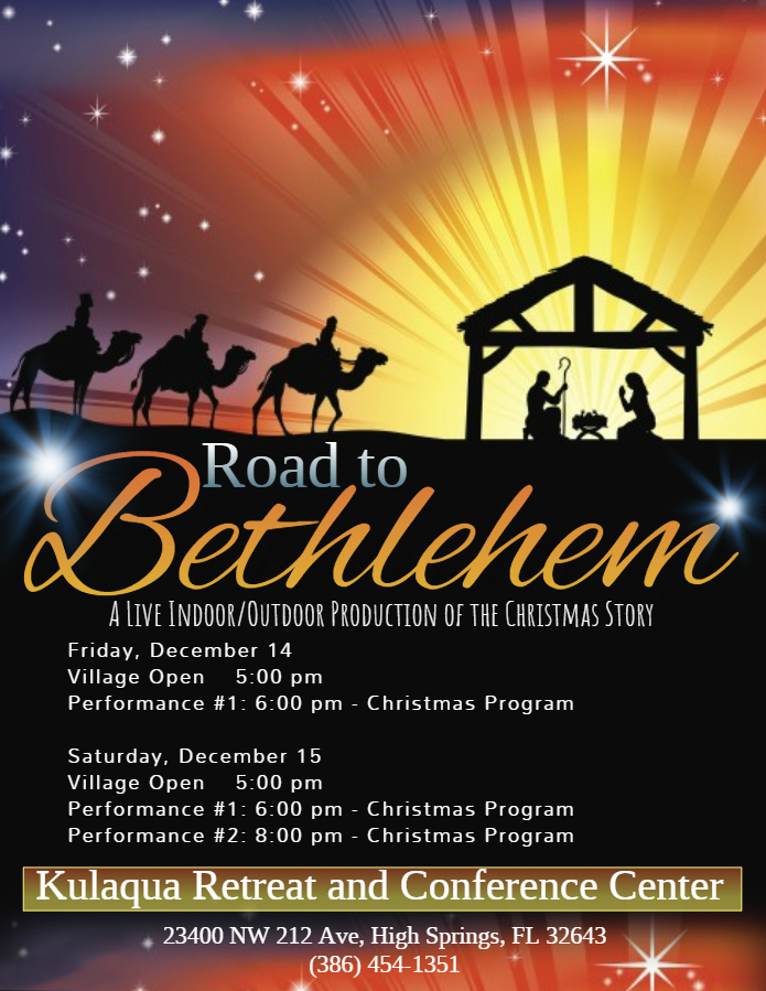 kulaqua retreat and conference center 2018Road to Bethlehem