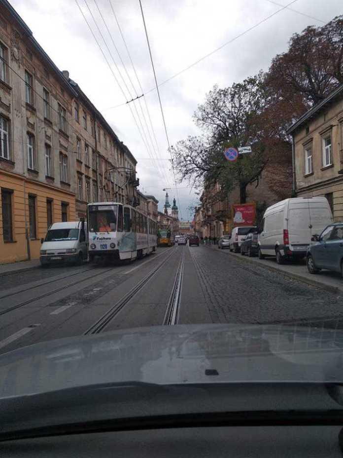 У Львові на Личаківській не курсували трамваї. Фото Варта-1