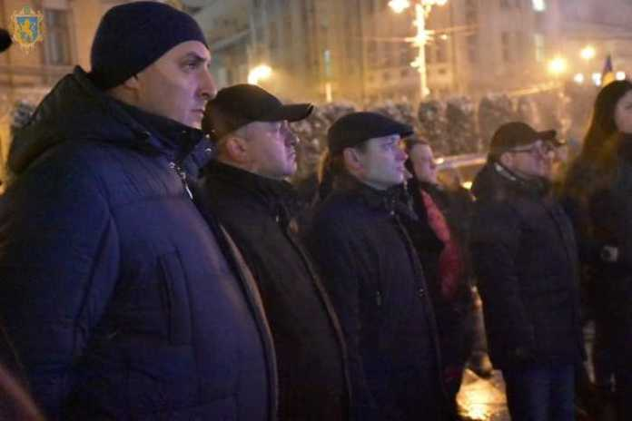 У центрі Львова відбулось віче з нагоди 5-ої річниці Революції Гідності