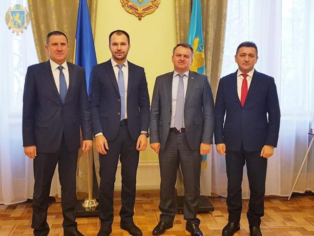 Олег Синютка зустрівся із заступником голови Державного агентства водних ресурсів України Павлом Гвозденком