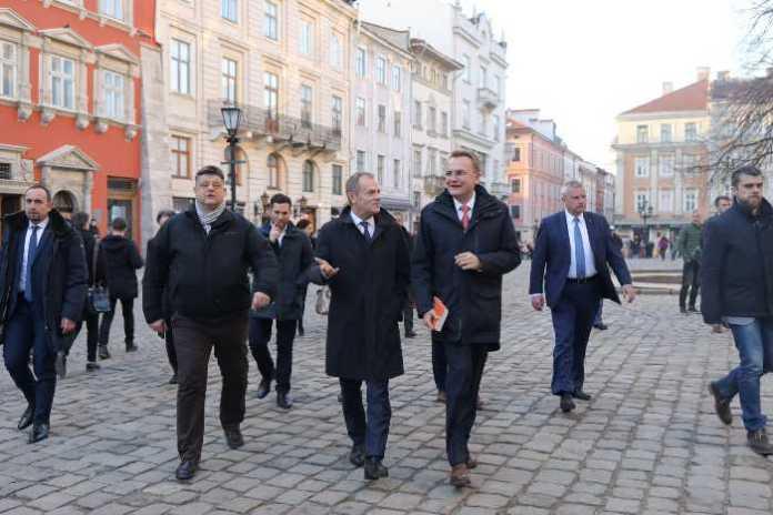 Дональд Туск уже у Львові. Фото Христина Процак
