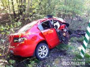У Рівненській області у жахливій аварії загинула 24-річна жінка. Фото ГУ НП у Рівненській області