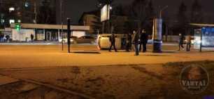 У Львові на Стрийській перекинувся автомобіль, фото Варта-1