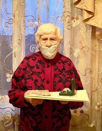 Львів'янка-довгожителька Тетяна Федюкова відзначила свій столітній ювілей. Фото: ЛМР.