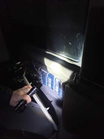 На кордоні з Польщею затримали автомобіль з цигарками, фото ДПСУ