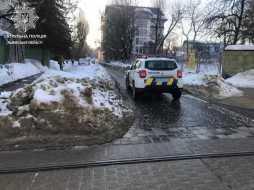 у Львові виникла загроза руйнування будинку, фото патрульна поліція Львівської області