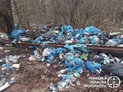 У Трускавці виявили понад 700 кв м стихійного сміттєзвалища