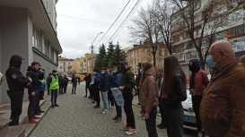 У Львові через Козака і Медведчука пікетували, фото Національний корпус Львівщини