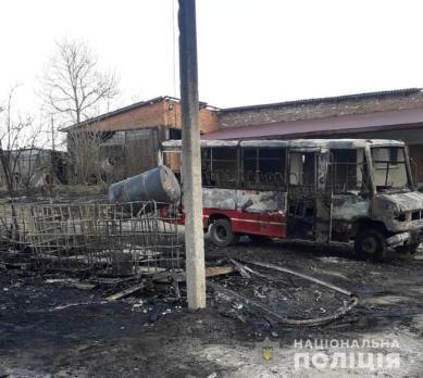 На Львівщині згоріли три автобуси